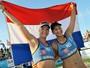 Duplas femininas de vôlei de praia da Holanda treinarão em Guarujá