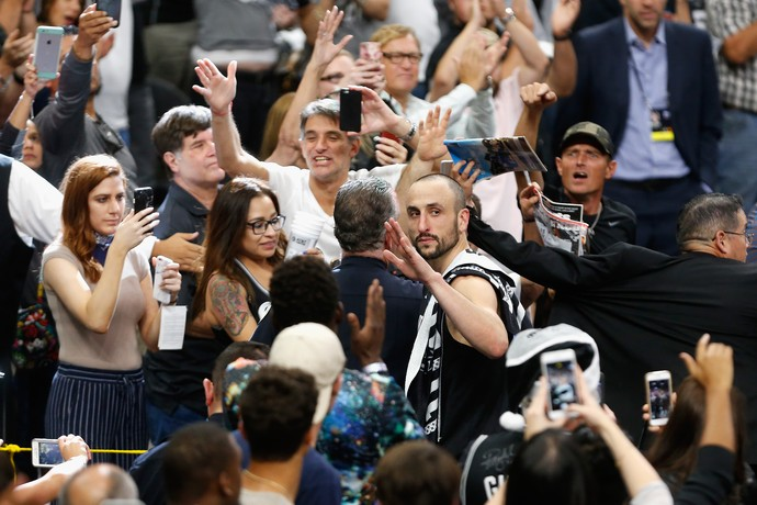 Manu Ginobili NBA San Antonio Spurs Golden State Warriors (Foto: Ronald Cortes/Getty Images)