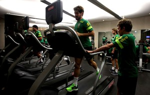 Alexandre pato brasil academia musculação (Foto: Marcio Iannacca)