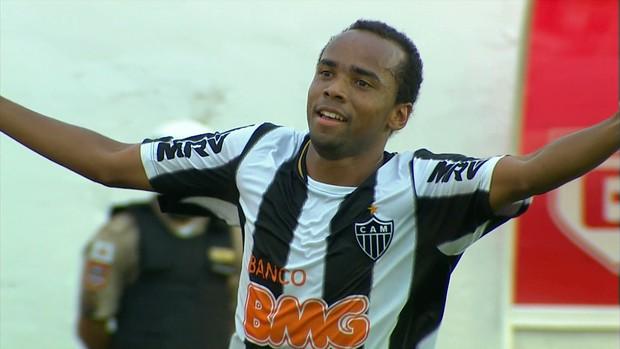 Marion fez o gol da vitória do Atlético-MG contra o Guarani-MG (Foto: Reprodução / TV Globo Minas)