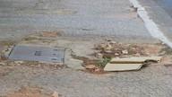 Calçadas da W3 Sul estão esburacadas