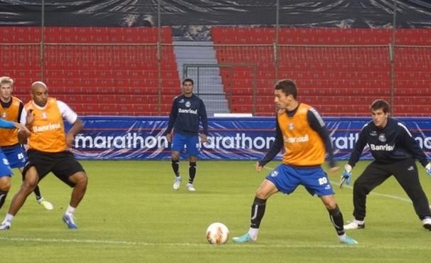 Gremio se prepara para enfrentar o LDU na fase prévia (Foto:  Hector Werlang/Globoesporte.com)