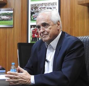 Presidente do São Paulo Carlos Augusto de Barros e Silva, o Leco (Foto: Marcelo Hazan)