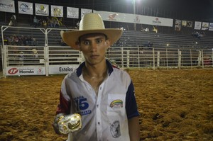 Vanicelio, quarto colocado do rodeio Expoacre 2015 (Foto: Duaine Rodrigues)
