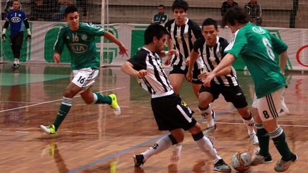Santos e Palmeiras, futsal sub-20, Campeonato Paulista (Foto: Fabio Menotti / Site Oficial do Palmeiras)