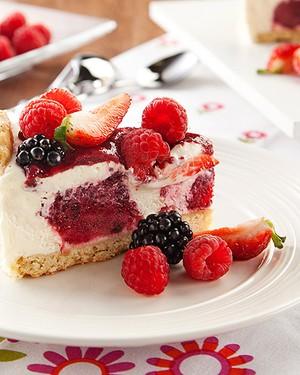 Torta holandesa light de frutas vermelhas (Foto: ARA Fotografias)