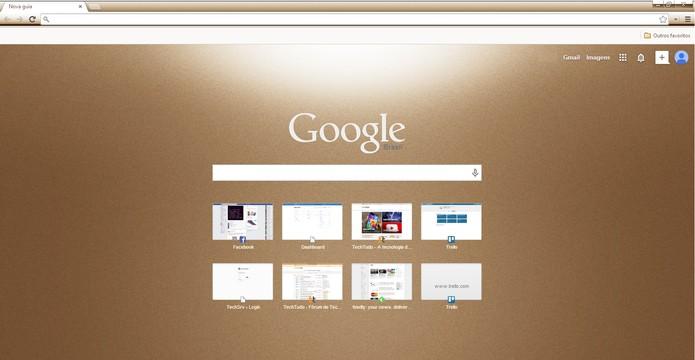 Veja como mudar o tema do Google Chrome e deixe o navegador do seu jeito (Foto: Reprodução/Carol Danelli)