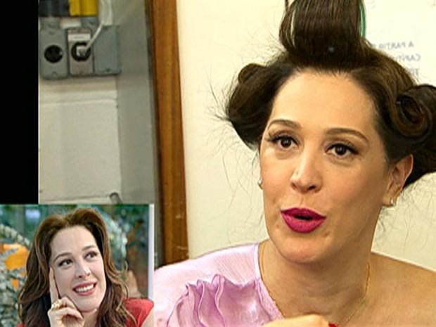 Maquiadora de Claudia Raia ensina a usar o batom de Lívia, vilã de Salve Jorge (Foto: Mais Você / TV Globo)