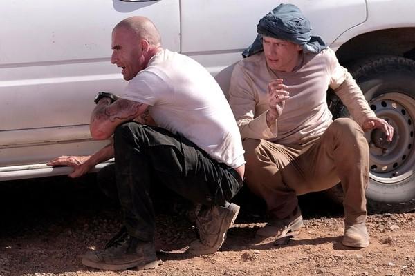 Os atores Dominic Purcell e Wentworth Miller em cena de Prison Break (Foto: Divulgação)