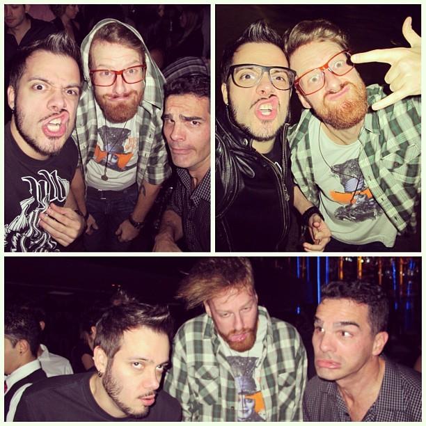 Ex-BBBs Max, Flávio e Ralf (Foto: Instagram)