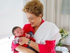 Dilma visita neto recém-nascido em Porto Alegre; veja foto