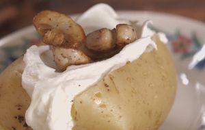 Como fazer batata recheada de micro-ondas