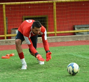 Tiago Rocha, goleiro Rio Branco-AC (Foto: Duaine Rodrigues)