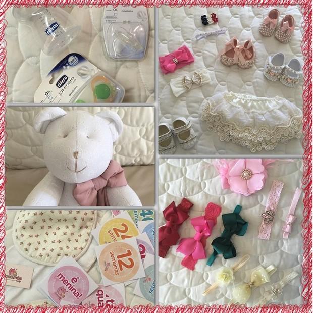 Deborah Secco mostra presentes para o bebê (Foto: Reprodução/Instagram)