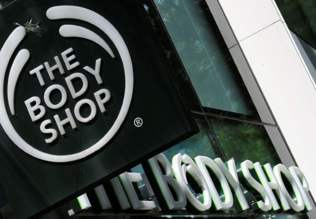 Logo da companhia de cosméticos britânica The Body Shop, em loja em Viena, na Áustria (Foto: Leonhard Foeger/Reuters)
