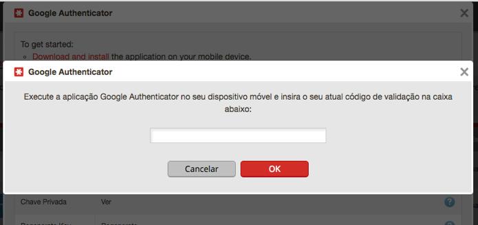 Insira o código do Authenticator para finalizar (Foto: Reprodução/Paulo Alves)