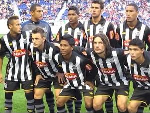 Lateral-direito George Lucas ao lado do atacante Neymar pelo Santos (Foto: Arquivo Pessoal)