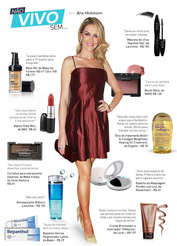 a1f30d526b5a9 Ana Hickmann conta quais são seus produtos de beleza preferidos