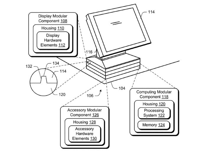 Microsoft pode criar pcs modulares fceis de montar como lego esquema apresenta a ideia de componentes individuais empilhados sob o monitor foto reproduo ccuart Gallery