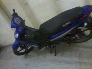 Moto do idoso foi recuperada pela polícia (Foto: Divulgação/Polícia Militar)