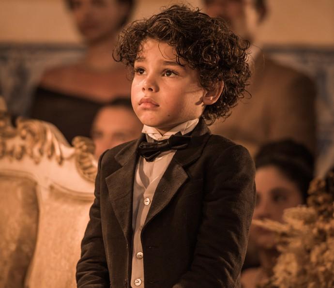 Martim será vivido por Davi Caetano na primeira fase. Depois, quem assume o personagem é o ator Lee Taylor (Foto: Caiuá Franco/ Globo)