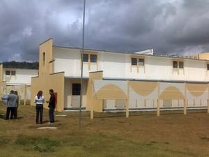 Pavilhão Rogério Coutinho Madruga, em Alcaçuz (Foto: Ricardo Araújo/G1)