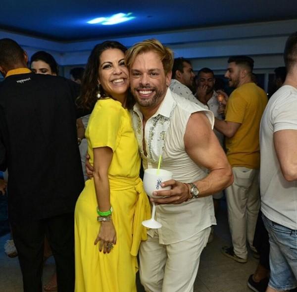 Bruno Chateaubriand e Thalita Rebouças: a pista no apartamento de Narcisa Tamborindeguy ferveu até manhã (Foto: Reprodução/ Instagram)
