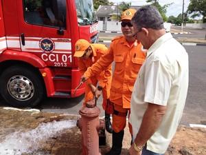 """Foram localizados 26 hidrantes, que serão avaliados quanto a eficiência e localização (Foto: Camila Dall""""Agnol/Caer)"""