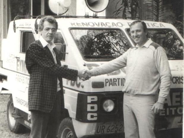 José Mari Eymael, em 1985, durante a campanha para prefeito de São Paulo (Foto: Divulgação)