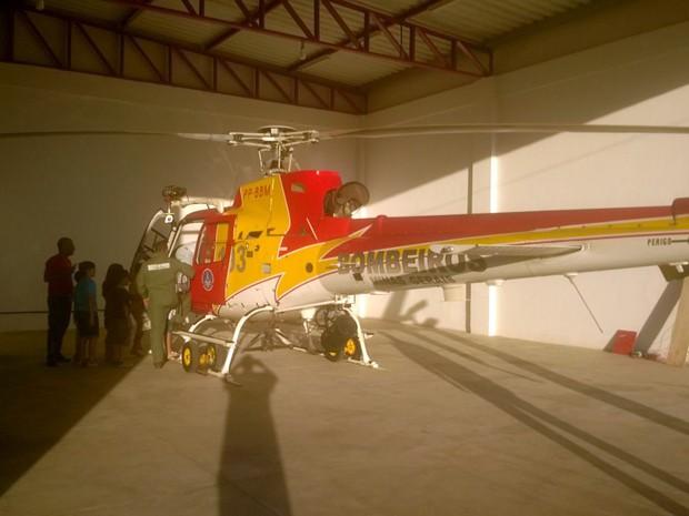 Batizado como Arcanjo 2, helicóptero reforça atendimentos feitos pelo Samu Sul de Minas (Foto: Corpo de Bombeiros)