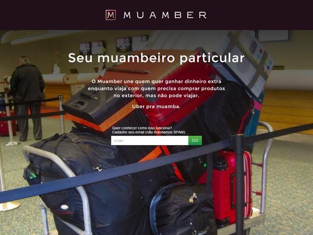 Muamber: marca e aparência inspiradas no Uber (Foto: reprodução)
