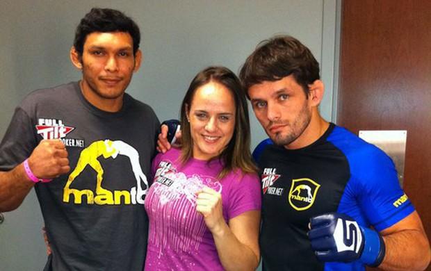 Rodrigo Damm, Carina Damm e Luis Sapo mma (Foto: Reprodução/Facebook)