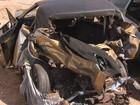 Acidente entre carro e caminhonete deixa mortos na BR-153 em Ubarana