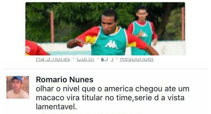 Racisco Pedro Ivo América-RN (Foto: Reprodução)