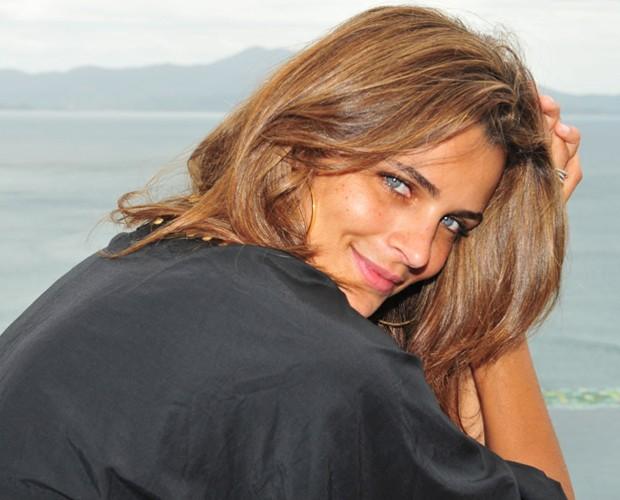 Fernanda Motta não tem pressa para ser mãe, mas já pensa na possibilidade (Foto: Domingão do Faustão / TV Globo)