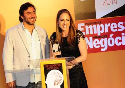 Os destaques do ano Leonardo Simão e Juliana Della Nina, da Bebê Store (Foto: Sylvia Gosztonyi)