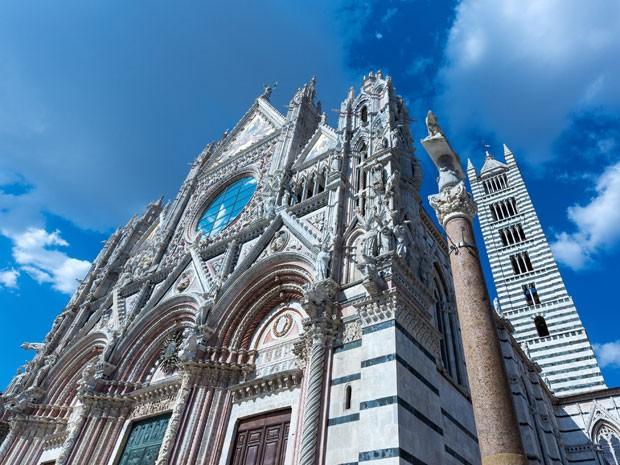 A catedral de Siena, conhecida como Duomo (Foto: Giuseppe Masci / TIPS / Photononstop/ AFP)