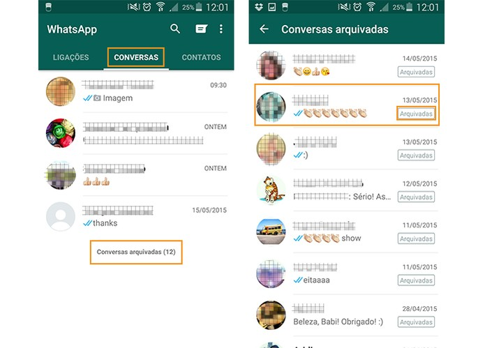 Acesse as conversas arquivadas no WhatsApp (Foto: Reprodução/Barbara Mannara)