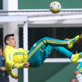 Moisés Palmeiras treino (Foto: Cesar Greco/Ag Palmeiras/Divulgação)