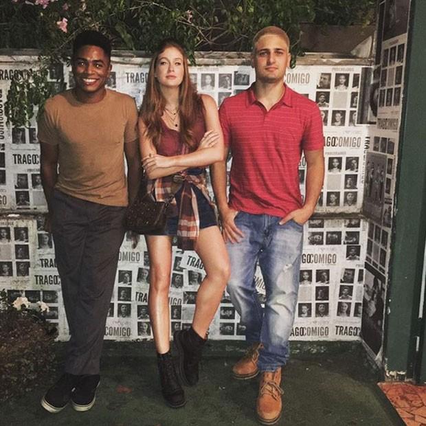 Sidney Santiago, Marina Ruy Barbosa e Daniel Rocha rodam filme (Foto: Instagram/ Reprodução)