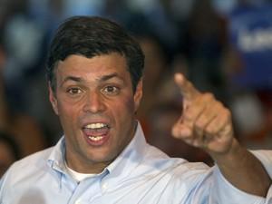 Líder da oposição da Venezuela, Leopoldo López, em outubro de 2011 (Foto: /Carlos Garcia Rawlins/Arquivo/Reuters)
