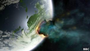 Comunidade científica debate evidências sobre tipo de corpo celeste que atingiu a Terra (Foto: BBC)