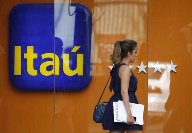 Logo do Itaú visto em agência no Rio de Janeiro (Foto: REUTERS/Sergio Moraes)