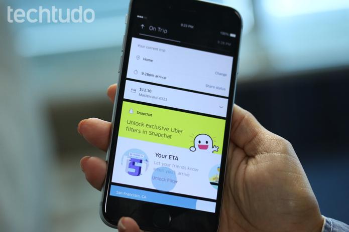 Uber e Snapchat (Foto: Gabrielle Lancellotti/TechTudo)