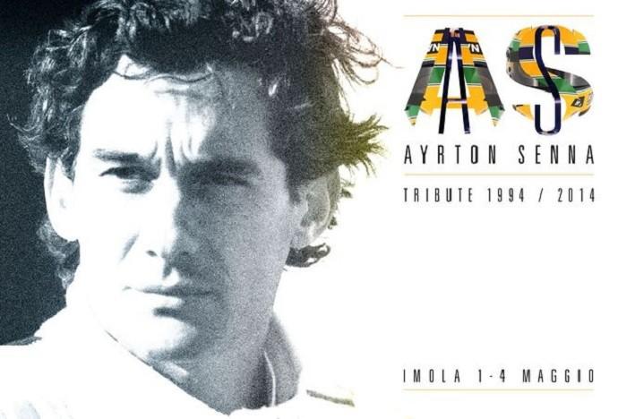 Cartaz de divulgação do evento Ayrton Senna Tribute em Ímola (Foto: Divulgação)