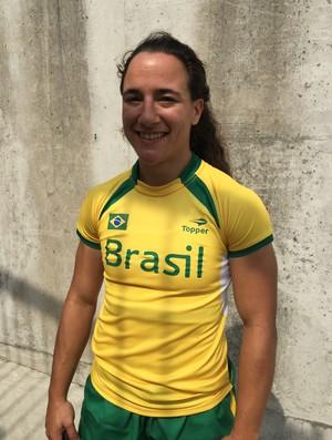 Isadora Cerullo - Brasil x Colômbia - Rúgbi Pan de Toronto (Foto: GloboEsporte.com)