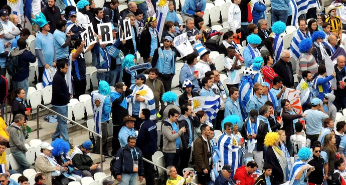 torcida uruguai arena corinhtians (Foto: Lucas Rizzatti)
