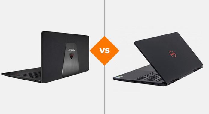 Asus ROG GL552 ou Dell Inspiron 15 Gaming? Veja comparativo de especificações (Foto: Arte/TechTudo)