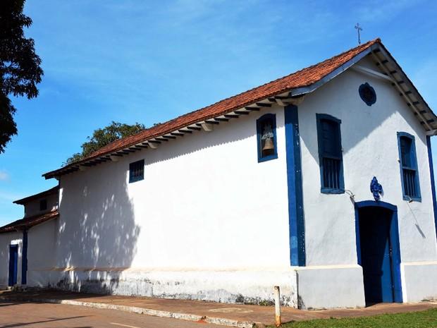 Capela de São Bento foi destruída no desastre com barragem de Fundão, em Mariana. (Foto: Elio Moroni Filho/Prefeitura de Mariana)