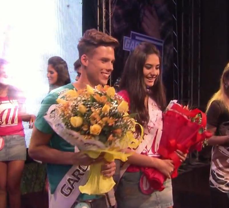 Vencedores do concurso Garoto e Garota AT 2015 (Foto: Reprodução/TV Tribuna)